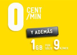 Tarifa cero de masmovil, 1 gb y llamadas a 0 cent/min por 9 euros
