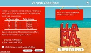 Promoción de llamadas ilimitadas Vodafone
