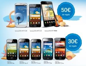 Incentivo de 30€ o 50€ al comprar un movil Samsung