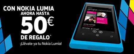 Regalo hasta 50€ al comprar Nokia Lumia