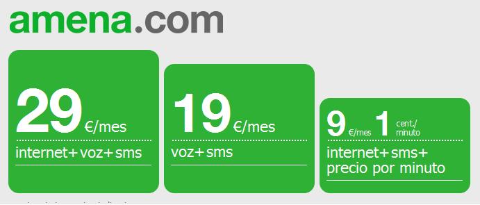 Todas las tarifas de Amena.com