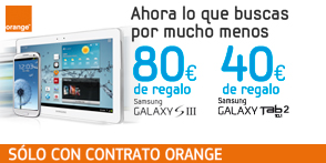 Samsung regala 80€ al comprar un Galaxy SIII con Orange