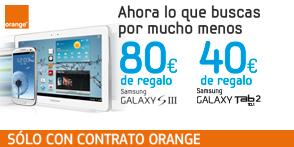 Samsung regala 80€ al comprar un Galaxy SIII con Orange