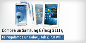 Samsung regala un  Galaxy Tab 2 al comprar un Galaxy SIII