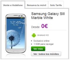 SIII en tienda online Vodafone