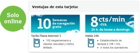 Internet móvil gratis en Movistar prepago