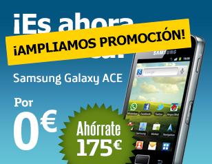 Promoción Galaxy ACE gratis en Movistar