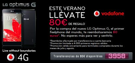 LG regala 50€ al comprar un terminal Optimus G de Vodafone
