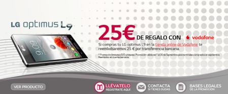 LG regala 25€ al comprar un terminal Optimus L9 de Vodafone