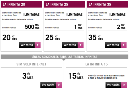 Yoigo renueva sus tarifas infinitas desde 20 euros