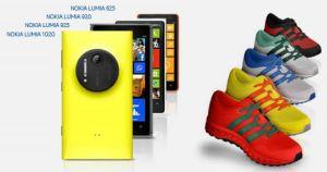 Nokia regala zapatillas personalizadas al comprar un  Nokia Lumia 1020, Nokia Lumia 925, Nokia Lumia 920, Nokia Lumia 820, Nokia Lumia 720, Nokia Lumia 625 y Nokia Lumia 620