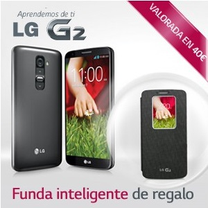 LG regala una funda Quick View  al comprar un G2 con Vodafone, Movistar o Yoigo