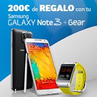 Samsung regala hasta 200€ al comprar un Galaxy Note 3 con un Galaxy Gear
