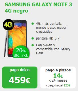 Note 3 por 459 euros en amena.com sin permanencia