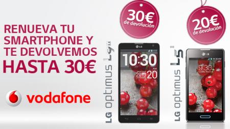 LG regala hasta 30€ al comprar un terminal Optimus L5 II o L9 II de Vodafone