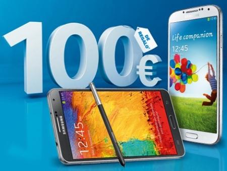 Samsung regala 100 euros al comprar un Galaxy Note 3 y Galaxy S4