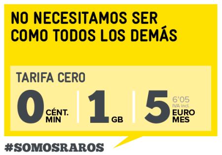 MásMóvil lanza la tarifa más barata de 1GB y minutos gratis