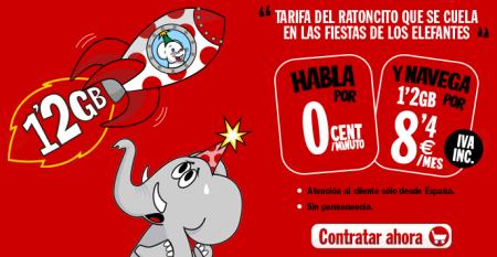 Pepephone aumenta los datos en su tarifa del ratoncito que se cuela en las fiestas de los elefantes