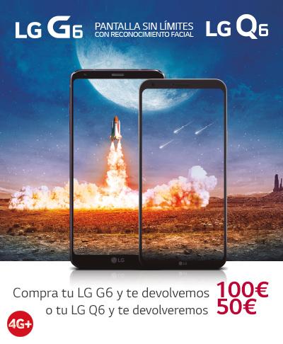 Vodafone y LG regalan hasta 100 € al comprar un LG G6 o Q6