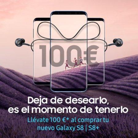Samsung regala 100 € al comprar un Samsung Galaxy S8 o S8 plus