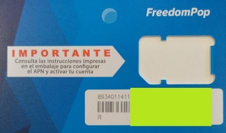 Solicitar portabilidad de FreedomPop a otro operador númro ICC